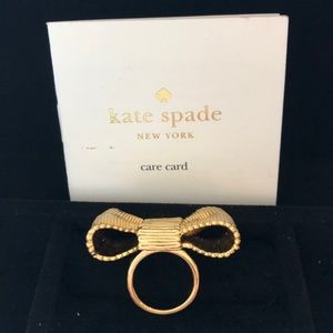 Bnwt Kate spade bow tie ring